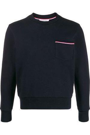 Thom Browne Men Sweatshirts - Loopback stripe pocket sweatshirt