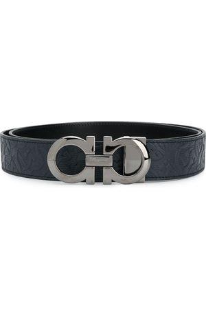 Salvatore Ferragamo Men Belts - Reversible Gancini buckle belt