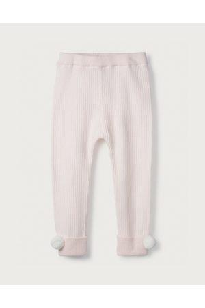 The White Company Baby Leggings - Pom-Pom Knitted Leggings