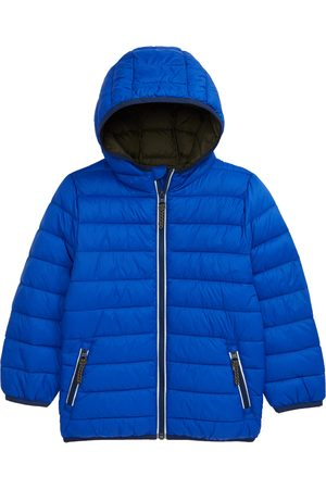 Boden Boy's Hooded Nylon Puffer Coat