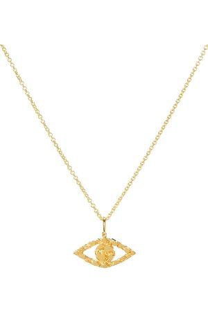 Sydney Evan Small Evil Eye 14kt nugget necklace