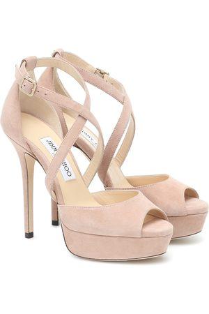 Jimmy Choo Jenique 125 suede platform sandals