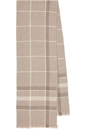 Loro Piana East River checked cashmere scarf