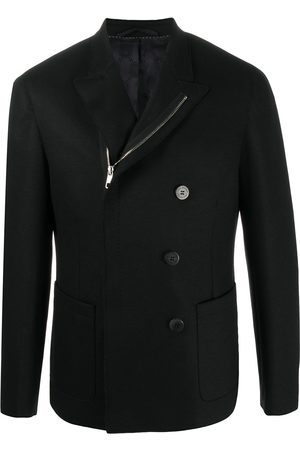 Neil Barrett Men Blazers - Off-centred zipped double-breasted jacket