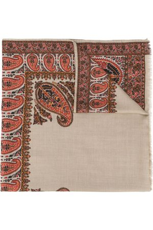 Etro Paisley-pattern fringed scarf - Neutrals