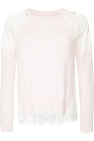 Onefifteen Women Sweaters - Floral lace patch sweater