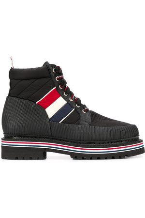 Thom Browne Men Ankle Boots - All terrain tricolour stripe ankle boots - 001