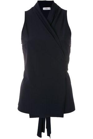 AMIR SLAMA Sleeveless wrap blouse