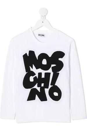 Moschino Logo print long-sleeved top