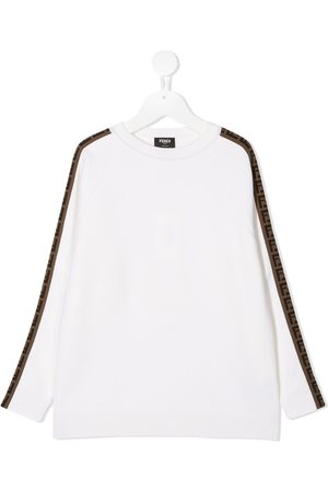 Fendi FF-trim sweatshirt - Neutrals