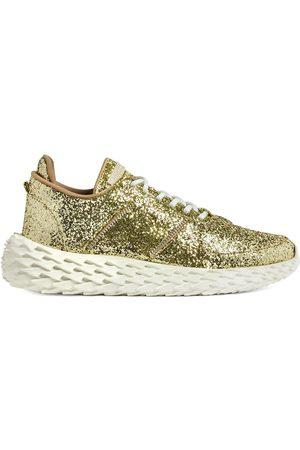 Giuseppe Zanotti Men Sneakers - Urchin platinum glitter sneakers