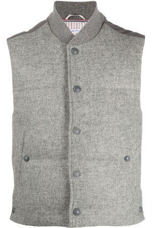 Thom Browne Men Gilets - Snap button padded gilet - Grey