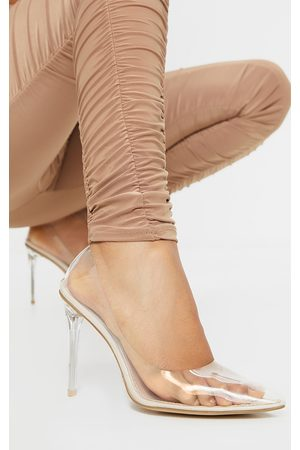 PRETTYLITTLETHING Clear Heeled Court Shoe