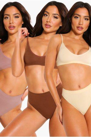 Boohoo Womens 3 Pack Seamfree Triangle Bralette - - 4