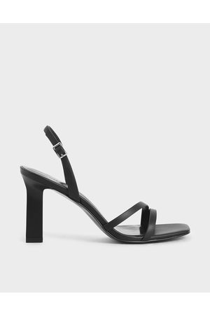 CHARLES & KEITH Strappy Blade Heel Slingback Sandals