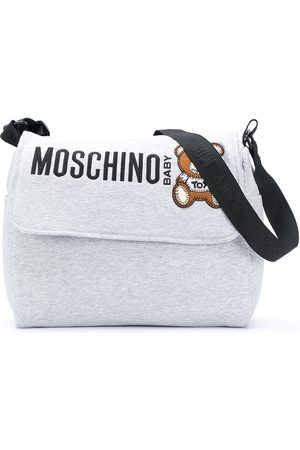Moschino Logo-print changing bag - Grey