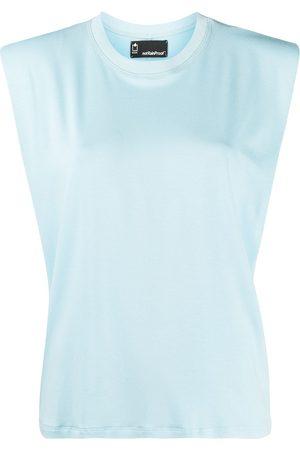 Styland Padded shoulder organic cotton tank top