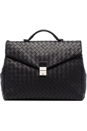 Bottega Veneta Men Laptop Bags - Intrecciato woven briefcase