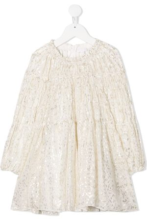 Chloé Gathered smock dress