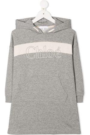 Chloé Logo print hoodie - Grey