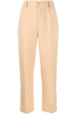 FORTE FORTE High waisted straight leg trousers - Neutrals