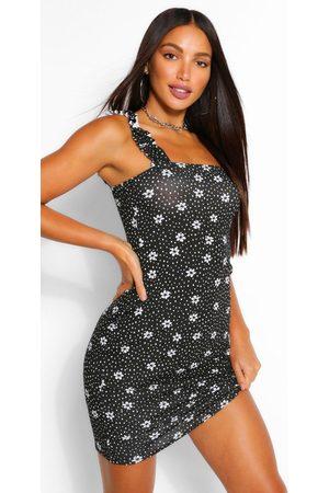 Boohoo Womens Tall Polka Dot Mini Sun Dress - - 2