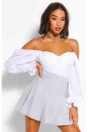 Boohoo Womens Jersey Pleated Tennis Skirt - - 2