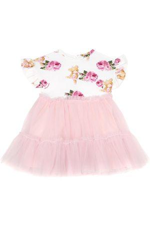 MONNALISA Baby stretch-cotton jersey dress