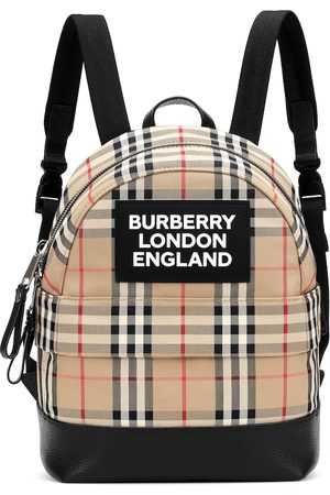 Burberry Vintage Check leather-trimmed canvas backpack