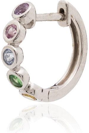Roxanne First Women Hoop - 14kt sapphire hoop earring - /MULTICOLOURED