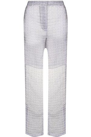 Cecilie Bahnsen Elisabeth sheer flared trousers - Grey