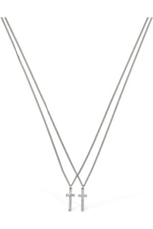 Dsquared2 Cross Double Chain Necklace