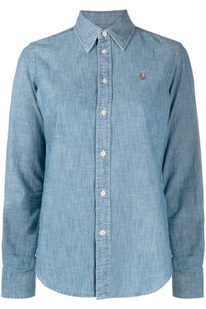 Polo Ralph Lauren Logo embroidered denim shirt