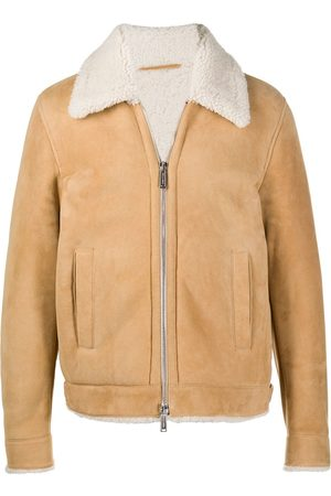 Dsquared2 Shearling zipped jacket - Neutrals