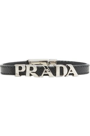 Prada Saffiano logo bracelet