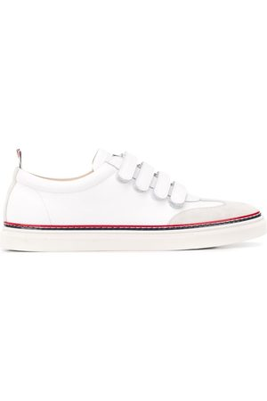Thom Browne Vitello Calfskin Velcro Lo-Top sneakers