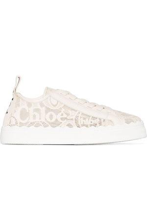 Chloé Lauren lace-detail sneakers - Neutrals