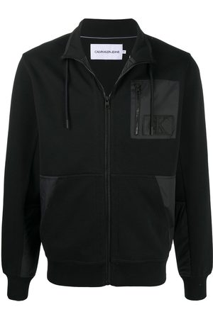 Calvin Klein Contrast panel zipped sweater