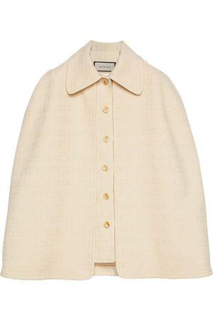 Gucci Detachable cape tweed vest