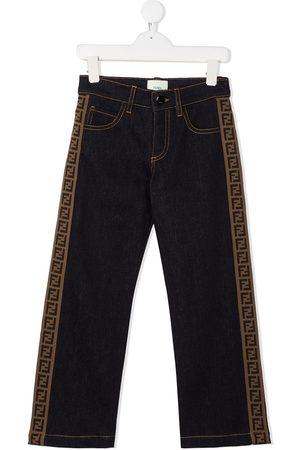 Fendi FF trim straight-leg jeans