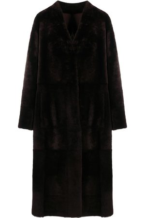 DROME Shearling tie waist coat