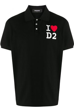 Dsquared2 Polo shirt with graphic lettering