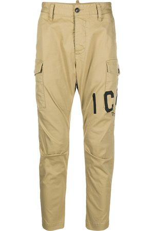 Dsquared2 Logo-print cropped cargo trousers - Neutrals