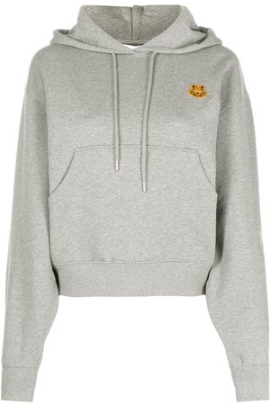 Kenzo Cotton hoodie with tiger motif - Grey