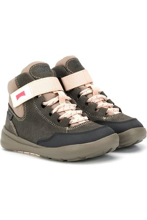 Camper Girls Ankle Boots - Panelled lace-up ankle boots - Grey
