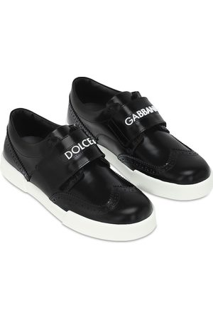 Dolce & Gabbana Leather Strap Sneakers