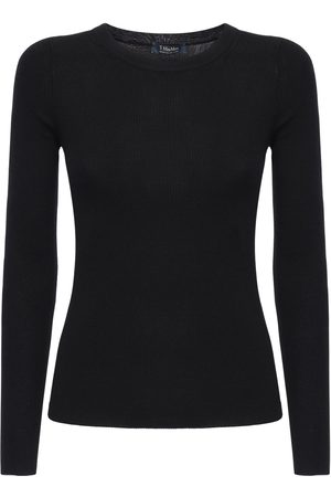Max Mara Light Wool Rib Knit Sweater