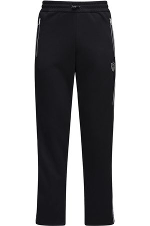 EA7 Logo Cotton Blend Sweatpants