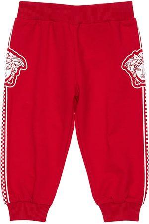 VERSACE Medusa Print Cotton Sweatpants