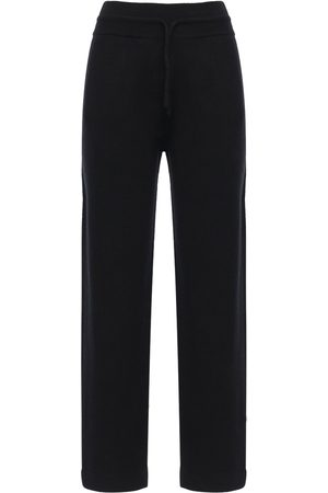 Agnona Cashmere Knit Wide Leg Sweatpants